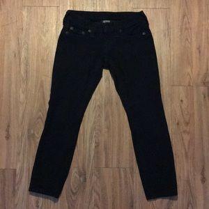 True Religion Stella Stretch Pants 24 x 23 Black